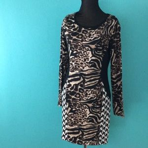 Dor Dor Couture animal print spandex dress
